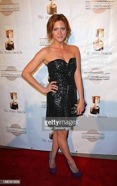 Actress Brittany Snow arrives for the 39th Annual Annie Awards at Royce Hall UCLA on February 4 2012 in Westwood California