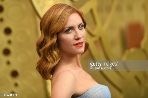 US actress Brittany Snow arrives for the 71st Emmy Awards at the Microsoft Theatre in Los Angeles on September 22 2019