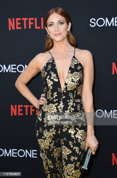 Actress Brittany Snow arrives for the Netflix's premiere of Someone Great at the Arclight theatre on April 17 2019 in Hollywood