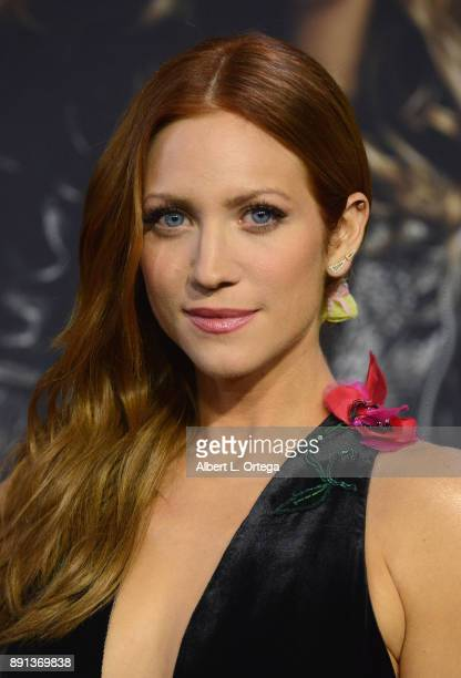 Actress Brittany Snow arrives for the Premiere Of Universal Pictures' 'Pitch Perfect 3' held at The Dolby Theater on December 12 2017 in Hollywood...