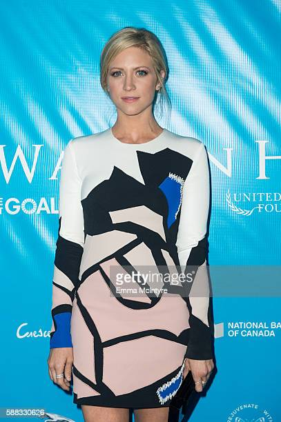 Actress Brittany Snow attends at RatPac Entertainment Hosts Special Event for UN SecretaryGeneral Ban Kimoon at Hillhaven Lodge on August 10 2016 in...