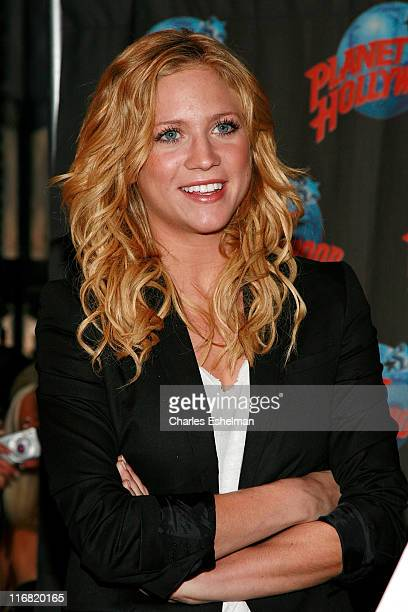 Actress Brittany Snow attends Brittany Snow's handprint ceremony on June 18 2008 at Planet Hollywood in New York