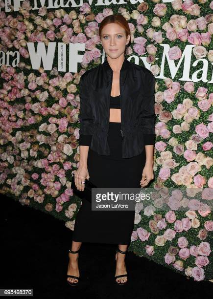 Actress Brittany Snow attends Max Mara and Vanity Fair's celebration of Women In Film's Face of the Future Award recipient Zoey Deutch at Chateau...