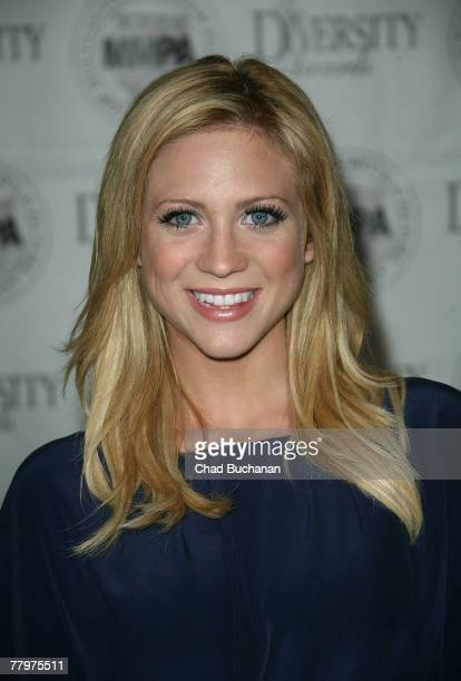 Actress Brittany Snow attends the 15th Annual Diversity Awards at the Globe Theatre, Universal Studios Hollywood on November 18, 2007 in Universal...