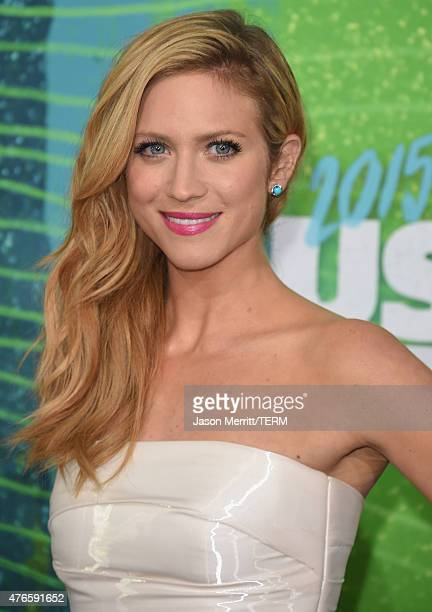Actress Brittany Snow attends the 2015 CMT Music awards at the Bridgestone Arena on June 10 2015 in Nashville Tennessee