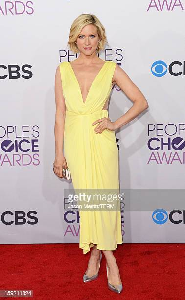 Actress Brittany Snow attends the 39th Annual People's Choice Awards at Nokia Theatre LA Live on January 9 2013 in Los Angeles California