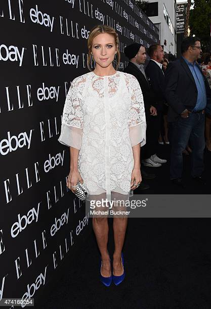 Actress Brittany Snow attends the 6th annual ELLE Women In Music celebration presented By eBay Hosted by Robbie Myers with performances by Alanis...
