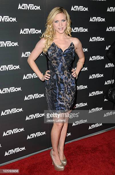 Actress Brittany Snow attends the Activision kick-off party for E3 at Staples Center on June 14, 2010 in Los Angeles, California.