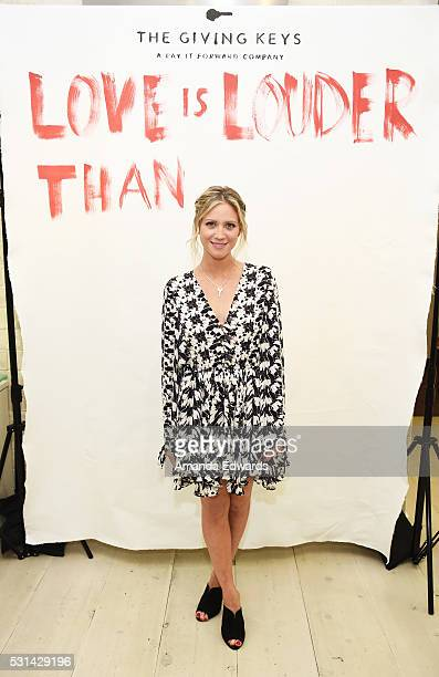 Actress Brittany Snow attends The Giving Keys and Love Is Louder Pop Up Shop event at Ron Robinson Fred Segal on May 14 2016 in West Hollywood...