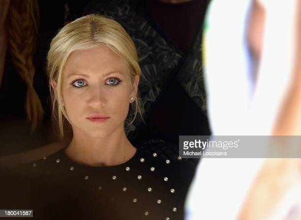 Actress Brittany Snow attends the Lela Rose fashion show during MercedesBenz Fashion Week Spring 2014 at The Studio at Lincoln Center on September 8...