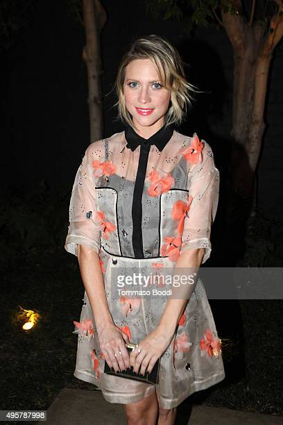 Actress Brittany Snow attends the Lela Rose Los Angeles Dinner on November 4 2015 in Los Angeles California