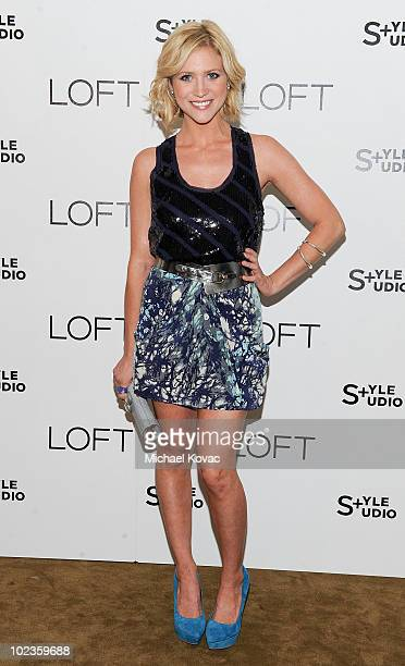 Actress Brittany Snow attends the LOFT Fall 2010 Style Studio Press Preview and Cocktail Party at Chateau Marmont on June 23, 2010 in Los Angeles,...
