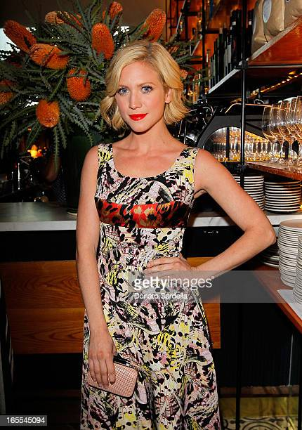 Actress Brittany Snow attends Vogue's Triple Threats dinner hosted by Sally Singer and Lisa Love at Goldie's on April 3 2013 in Los Angeles California