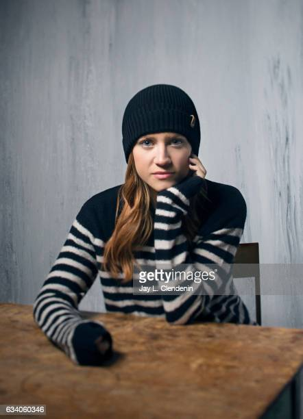 Actress Brittany Snow from the film 'Bushwick' is photographed at the 2017 Sundance Film Festival for Los Angeles Times on January 21 2017 in Park...