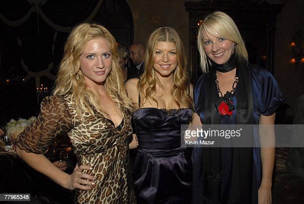 HOLLYWOOD NOVEMBER 16 Actress Brittany Snow Singer Fergie and Allure Editor Linda Wells celebrate Fergie's cover on Allure Magazine at Green Door on...