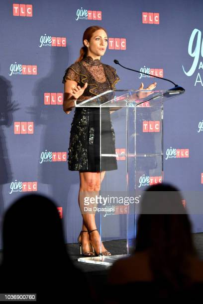 Actress Brittany Snow speaks onstage during 2018 TLC's Give A Little Awards on September 20 2018 at Park Hyatt in New York City