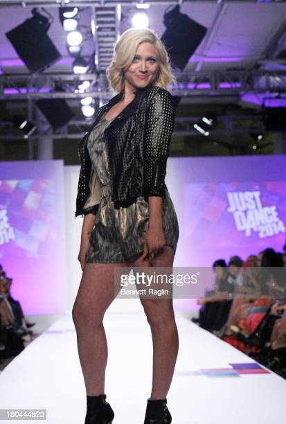 Actress Brittany Snow walks the runway during Just Dance with Boy Meets Girl at Fashion Pavilion in Chelsea on September 12 2013 in New York City