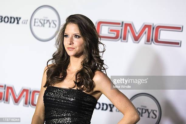 Actress Brittany Underwood arrives at ESPN the Magazine's Body Issue 5th annual ESPY's event at Lure on July 16 2013 in Hollywood California