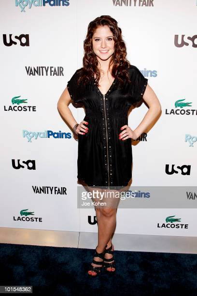 Actress Brittany Underwood arrives at the USA Network and Vanity Fair 'Royal Pains' Season Two kick off event at Lacoste Fifth Avenue Boutique on...