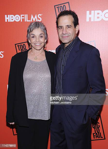 Actress Brooke Adams and husband actor Tony Shalhoub attend the Too Big To Fail New York Premiere at The Museum of Modern Art on May 16 2011 in New...