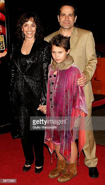 Actress Brooke Adams husband Tony Shalhoub and daughter Sophie arrive at the Los Angeles premiere of Paramount's Against the Ropes at Grauman's...