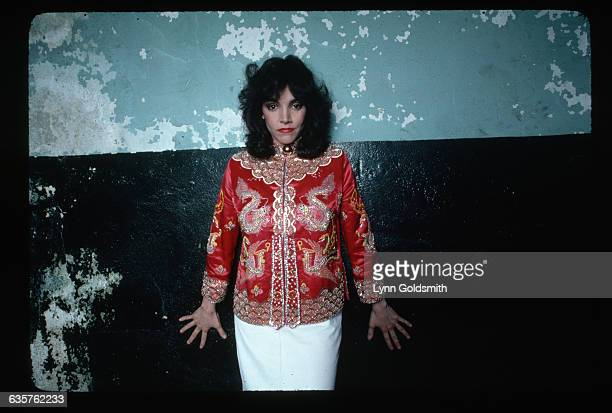 actress Brooke Adams She is shown waistup wearing an ornately embroidered Chinese shirt Photograph 1981
