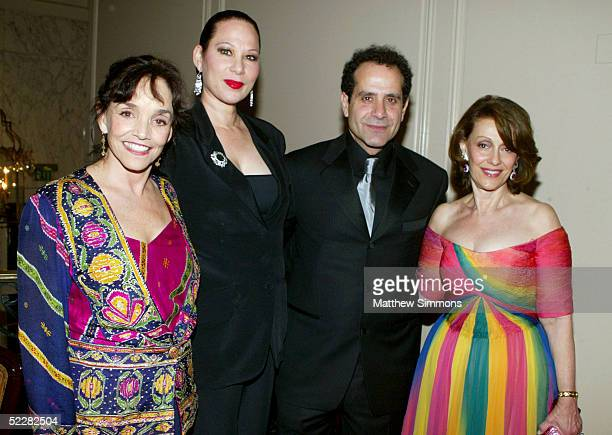 Actress Brooke Adams singer Debbie Decoudreaux Actor Tony Shalhoub and Breast Cancer Research Foundation Founder Evelyn H Lauder attend the Junior...