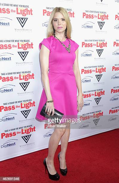 Actress Brooke Anne Smith arrives at the premiere of 'Pass The Light' at ArcLight Cinemas on February 2 2015 in Hollywood California