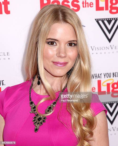 Actress Brooke Anne Smith arriving at the premiere of 'Pass The Light' at ArcLight Cinemas on February 2 2015 in Hollywood California