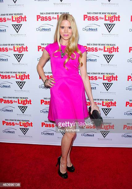 Actress Brooke Anne Smith attends the premiere of 'Pass The Light' at ArcLight Cinemas on February 2 2015 in Hollywood California
