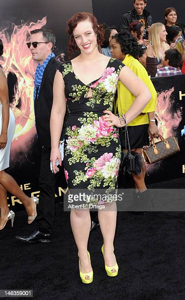 Actress Brooke Bundy arrives for The Hunger Games Los Angeles Premiere held at the Nokia Theatre LA Live on March 12 2012 in Los Angeles California
