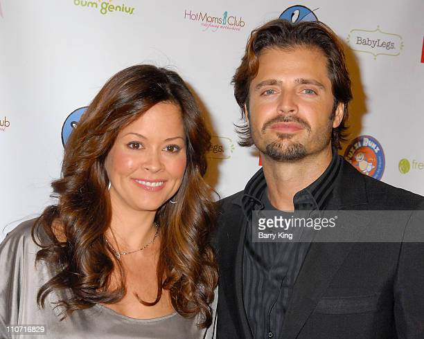 """Actress Brooke Burke and actor David Charvet attend the Los Angeles premiere of """"The Business of Being Born"""" held at the Fine Arts Theatre on January..."""