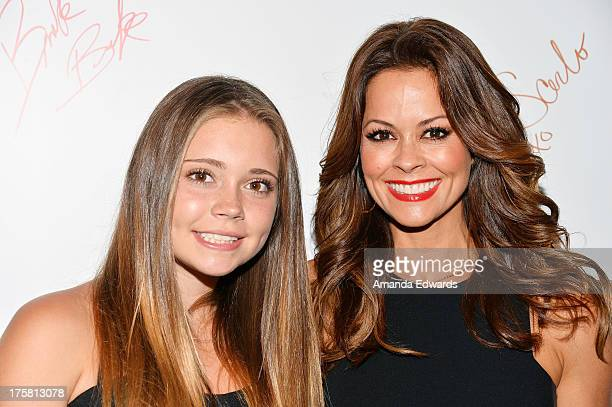 Actress Brooke Burke and her daughter Neriah Fisher arrive at the special Los Angeles screening of Werner Herzog's From One Second To The Next at the...