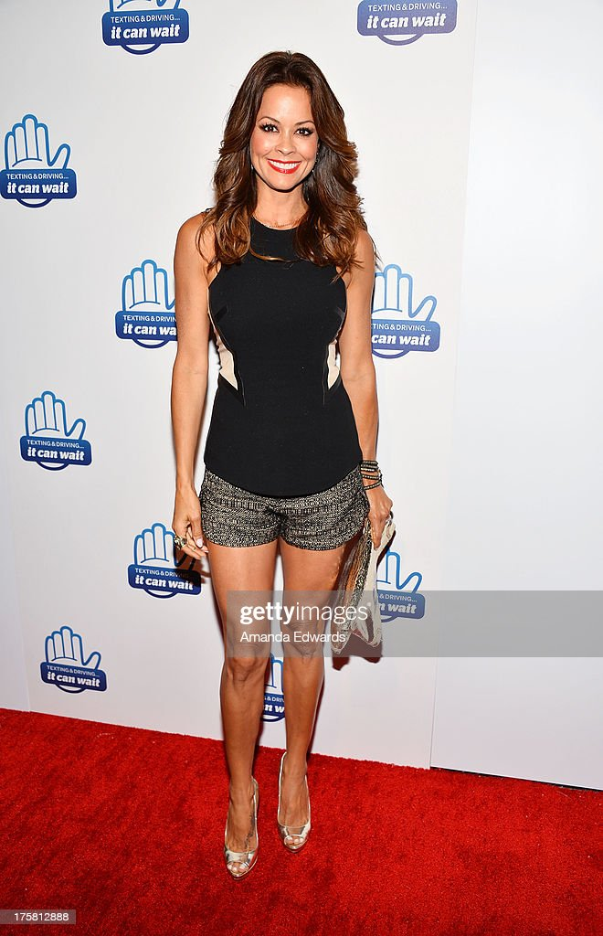 Actress Brooke Burke arrives at the special Los Angeles screening of Werner Herzog's 'From One Second To The Next' at the SilverScreen Theater at the Pacific Design Center on August 8, 2013 in West Hollywood, California.