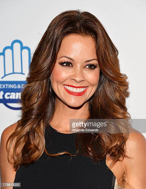 Actress Brooke Burke arrives at the special Los Angeles screening of Werner Herzog's From One Second To The Next at the SilverScreen Theater at the...