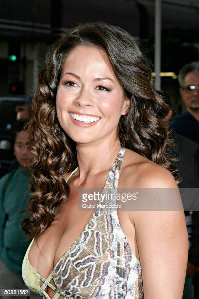 Actress Brooke Burke attends The 13th Annual Music Video Production Association Awards on May 20, 2004 at the Orpheum Theatre in Los Angeles,...