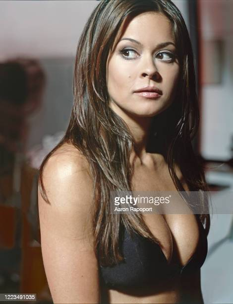 Actress Brooke Burke poses for a portrait in Los Angeles, California.