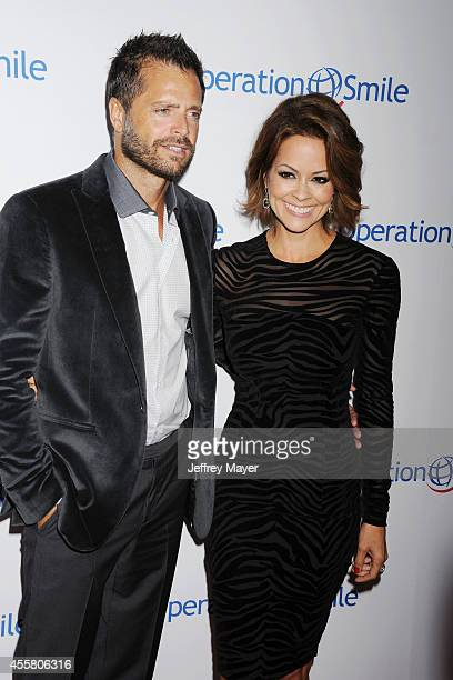 Actress Brooke Burke-Charvet and actor David Charvet attend the 2014 Operation Smile Gala at the Beverly Wilshire Four Seasons Hotel on September 19,...