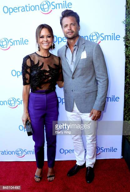 Actress Brooke Burke-Charvet and actor David Charvet attend the Operation Smile Annual Smile Gala at The Broad Stage on September 9, 2017 in Santa...