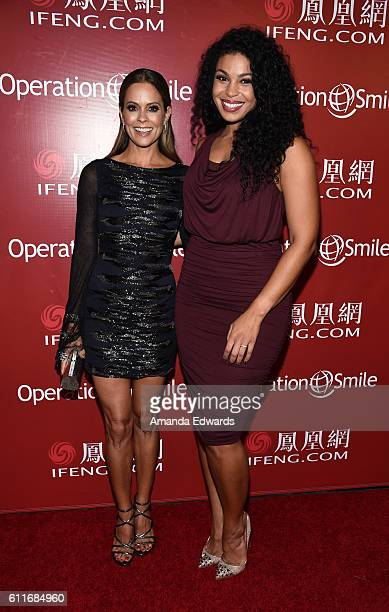 Actress Brooke BurkeCharvet and singer Jordin Sparks arrive at Operation Smile's Annual Smile Gala at the Beverly Wilshire Four Seasons Hotel on...
