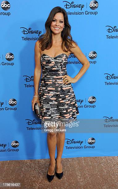Actress Brooke BurkeCharvet arrives at the 2013 Disney/ABC Television Critics Association's summer press tour party at The Beverly Hilton Hotel on...