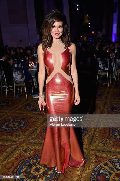 Actress Brooke BurkeCharvet attends 11th Annual UNICEF Snowflake Ball Honoring Orlando Bloom Mindy Grossman And Edward G Lloyd at Cipriani Wall...