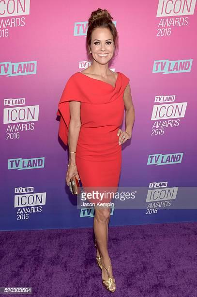 Actress Brooke BurkeCharvet attends 2016 TV Land Icon Awards at The Barker Hanger on April 10 2016 in Santa Monica California