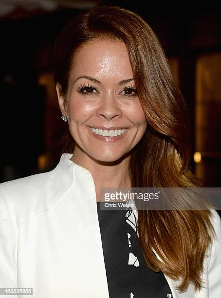 Actress Brooke BurkeCharvet attends Chrome Hearts Kate Hudson Host Garden Party To Celebrate Collaboration at Chrome Hearts on May 8 2014 in Los...