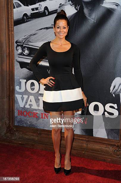 "Actress Brooke Burke-Charvet attends the John Varvatos' new book ""John Varvatos: Rock In Fashion"" launch party at John Varvatos Los Angeles on..."