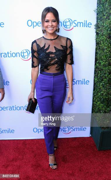 Actress Brooke Burke-Charvet attends the Operation Smile Annual Smile Gala at The Broad Stage on September 9, 2017 in Santa Monica, California.