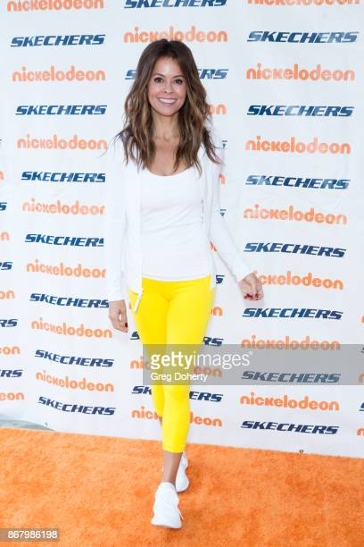 Actress Brooke BurkeCharvet attends the Skechers' 9th Annual Pier To Pier Friendship Walk at Manhattan Beach Pier on October 29 2017 in Manhattan...