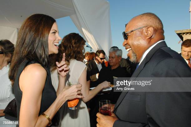 Actress Brooke Burns and Actor Earl Billings attend the Producers and Stars Toast Party Hosted by Dana Walden and Gary Newman on July 18 2007 in...