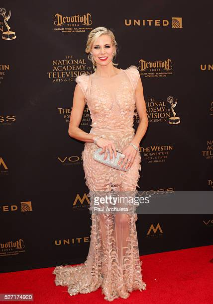 Actress Brooke Burns attends the 2016 Daytime Emmy Awards at The Westin Bonaventure Hotel on May 1 2016 in Los Angeles California