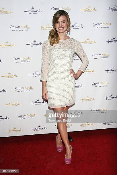 Actress Brooke D'Orsay attends the 2012 TCA winter press tour Hallmark evening gala held at the Tournament House on January 14 2012 in Pasadena...